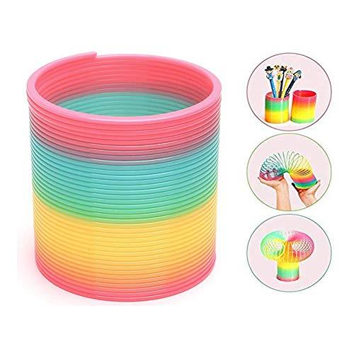 HAKACC Schöner Regenbogenspirale Rainbow Magic Frühling, Kunststoff Bunte Puzzle Lernspielzeug für Kinder Party Tasche Füllstoffe Spielzeug