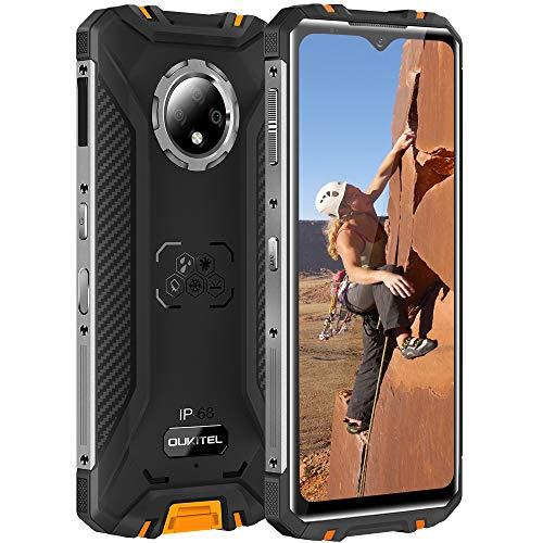 IP68 Móvil Libre Resistente,Oukitel WP8 PRO Telefonos Robusto,Android 10 4G Impermeable Smartphone,Pantalla de 6,49 Pulgadas, Triples Cámara 16MP,4GB+64GB,Batería 5000mAh,NFC Google Pay,naranja