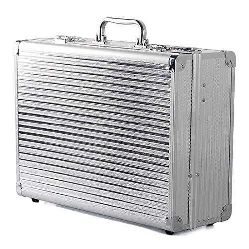 Accessoires de Coiffure Hair Tools Boîte Alliage D'aluminium Boîte de Stockage de Grande Capacité avec compartiments Valise Porte Outils,Blanc