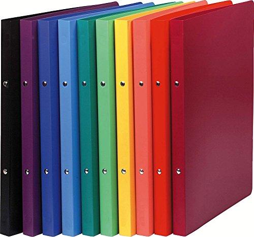 Exacompta 54199E Ringbuch (PP, DIN A4, blickdicht, 2 Ringe, Rücken 20mm) 1 Stück zufällige farbe