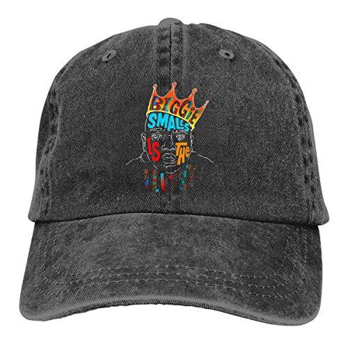 Hangdachang Sombrero de Vaquero Retro Ajustable Unisex Biggie Smalls Gorra de béisbol clásica Negro