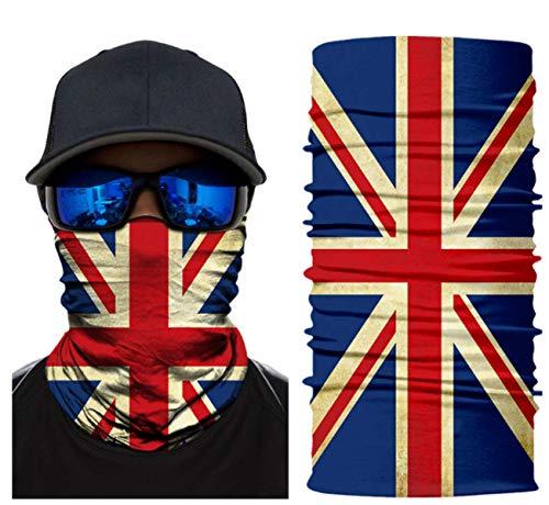 Elemental Goods [23 VARIATIONEN] Hochwertige Biker-Maske - Balaclava - Sturmhaube - Gesichtsmaske - Motorrad - Kopfbedeckung - Cool - Hals - Premium Design - Komfortabel - Haltbar - Fahrrad