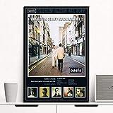 ysldtty Pintura De Lienzo Oasis ¿Cuál Es La Historia Morning Glory Music Star Group Singer Art Silk Poster Wall Home Decor GT221W Sin Marco 40cmx60cm