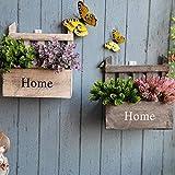per Macetas Colgantes Pared de Madera Estantesrías Murales Decorativos Maceteros Plantas Vintaje para Casa Cafetería Florista
