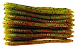 20 Pcs 6.25' Finesse Worms-Meat Getter (Watermelon Red) Scented Soft Fishing Lures Bass Fishing