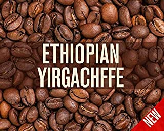 Ethiopian Yirgacheffe Misty Valley Natural Processed Coffee Beans (Light Roast (City), 5 Pounds Whole Beans)
