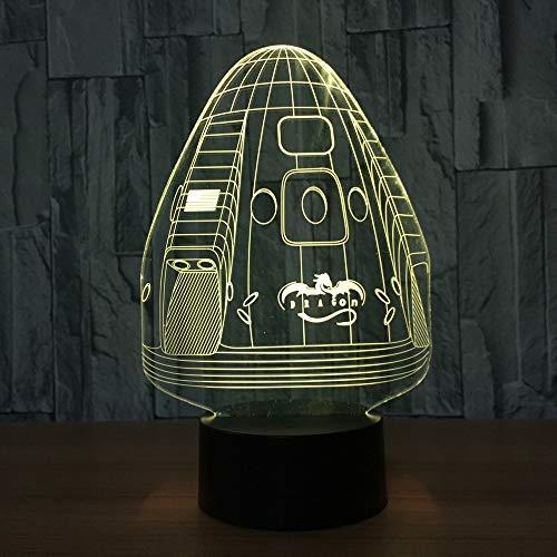 Dragon Space Capsule Color Light Visual Light Night, Adecuado para lámpara de Mesa táctil para niños Lanparapland Sleep Night Light Room Light