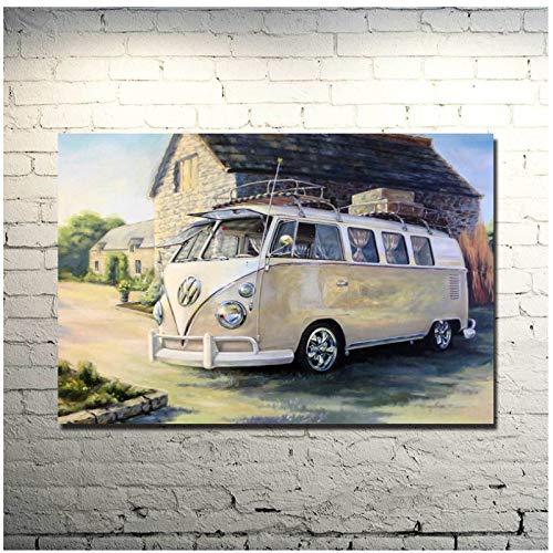 BUS klassieke auto Art Poster Print foto's decoratie Canvas schilderij
