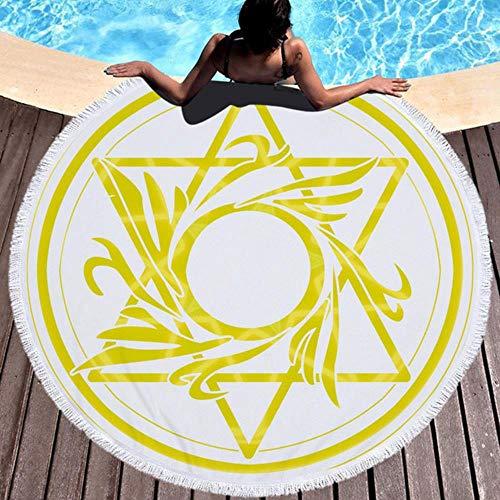 NAID Mandala ronde strandhanddoek met kwastje yoga mat sprei tapijt deken absorberende microvezel 2020 stijl, model C