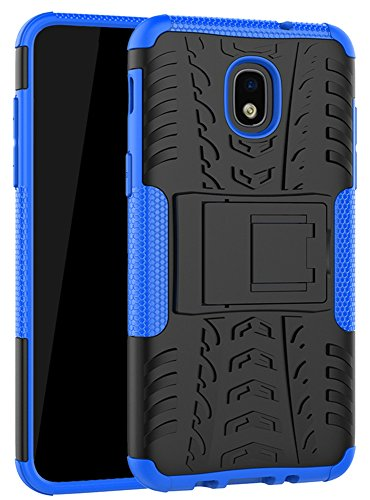Galaxy J7 Refine Case,J7 V 2018,Galaxy J7 Top,J7 Crown,J7 Aero,J7 Aura,J7 Eon,J7 Star Case, Yiakeng Shockproof Protective with Kickstand Phone Cases for Samsung J737V,J737T (Blue)