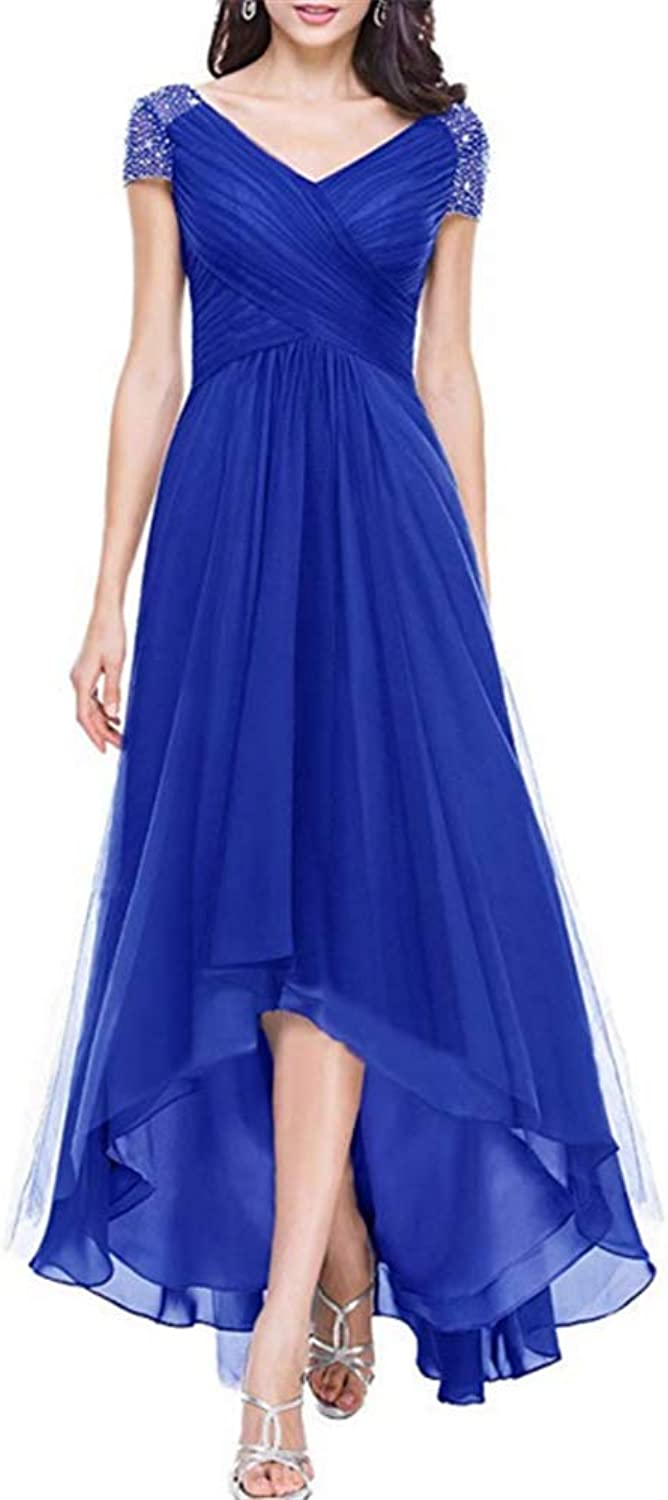 Kailiya Women's Tulle VNeck Gowns High Low Party Dress for Mother