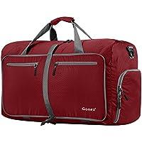Gonex - Bolsa de Equipaje/Viaje de Duffel Plegable Impermeable y Resistente 60L Travel Bag para Viaje/Deporte Rojo