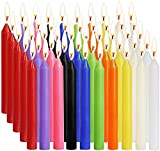 Set of 100-1/2 inch Diameter x 4 inch Height (no Fragrance) Colorful Mini Taper Candles, Birthday Party, Christmas Meal