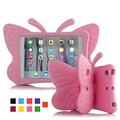 iPad case for Kids, Feitenn 3D Cartoon Butterfly Non-Toxic EVA Light Weight Kid...