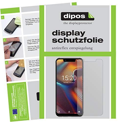 dipos I 2X Schutzfolie matt kompatibel mit Umidigi A3 Pro (2018) Folie Bildschirmschutzfolie