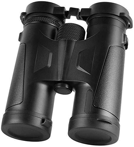 Jevogh Professionelles 10x42 Fernglas, JV30 Fernglas mit BAK4 Prisma Objektiv Große Sicht für die Vogelbeobachtung Reisen Jagd Sport Schwarz