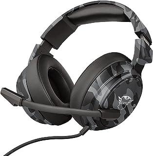 Trust Gaming GXT 433K Pylo Bekväma Over-Ear Spelheadset, Gamingheadset med Extra Stora Öronkuddar med Minnesskum - Kamoufl...