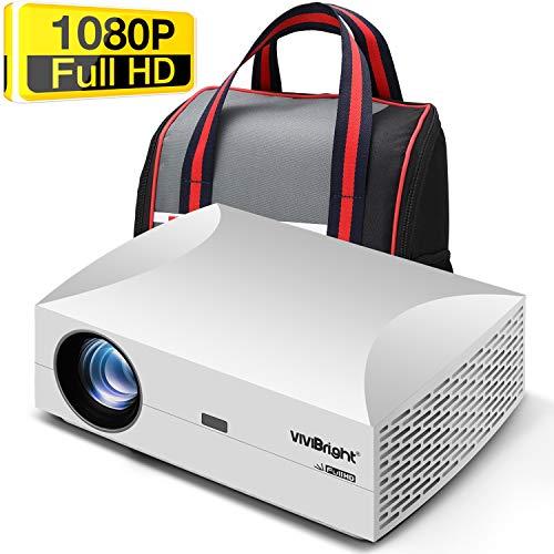 VIVIBRIGHT F30 PRO WiFi Beamer, Kabellos Full HD 1920x1080P Spiel Video projektor für Zuhause und die Arbeit, 4200 Lumen LED HELLIGKEIT, Anschluss TV-Sticks super Bequeme 120\'\' Video-Unterhaltung