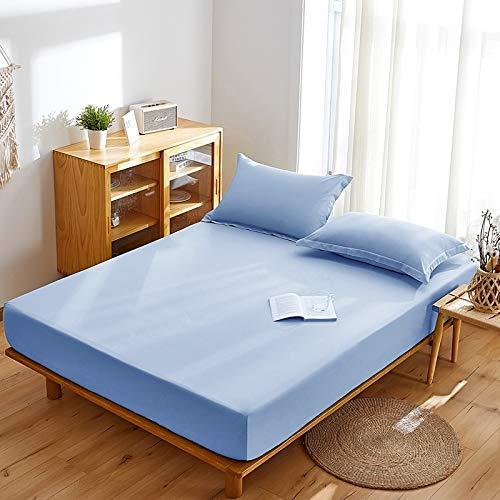 haiba sábana de una sola pieza cubierta protectora de colchón, cubierta de polvo antideslizante 90x200+15cm