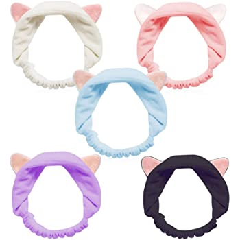 2016 Cute Spots Flannel Bowknot Hair Wrap Band Towel Face Makeup Headband S