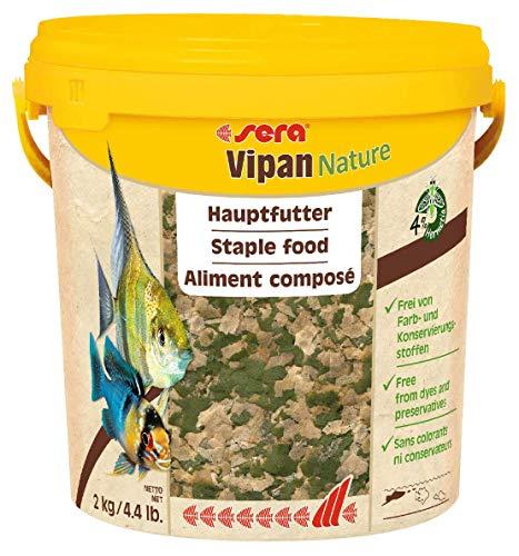 Sera Vipan Nature el alimento Principal Natural de Copos Grandes sin colorantes ni conservantes.