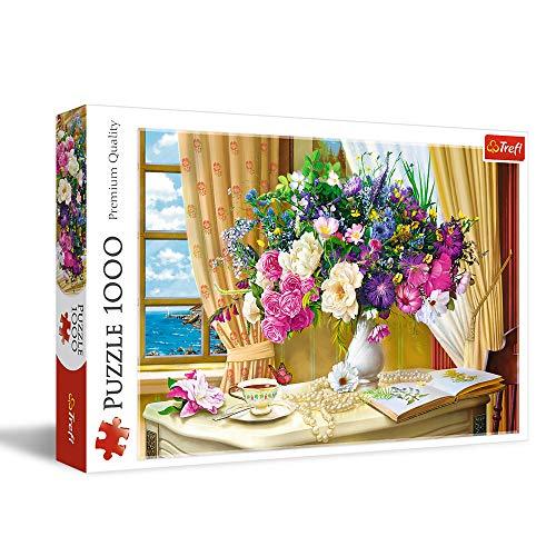 Trefl TR10526 Blumen am Morgen 1000 Teile, Premium Quality, für Erwachsene und Kinder ab 12 Jahren Puzzle, Farbig
