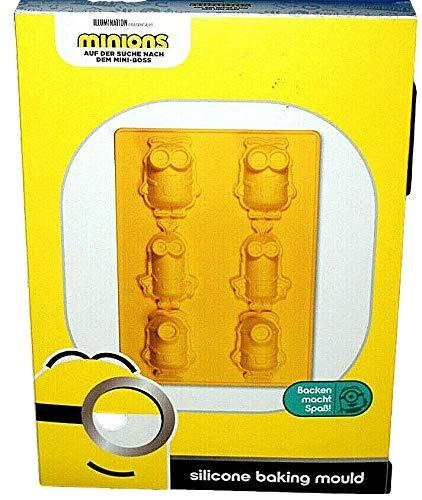 Minions - Molde de silicona para horno (6 miniones)