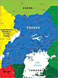 Poster 30 x 40 cm: Uganda von Editors Choice - hochwertiger