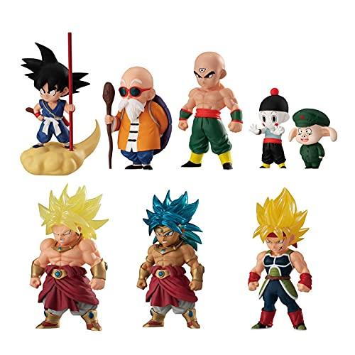 Ylmnku 8 Piezas Dragon Ball Adverge 14 Goku Kame Sennin Tien Shinhan Chiaotzu Uron Broli Bardana Juguetes De Acción Figura Coleccionable Gashapon 3-7Cm