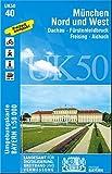 München Nord und West 1 : 50 000: Fürstenfeldbruck, Dachau, Freising-Aichach. (UK 50-40). Wanderwege, Radwanderwege, UTM-Gitter für GPS (UK50 ... Karte Freizeitkarte Wanderkarte)