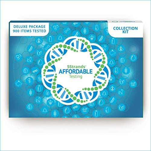 5Strands Adult Deluxe Test | Food & Environmental Intolerance | Nutrition, Metal, Mineral Imbalances | Test 900 Total Items | Hair Analysis | Results in 1-2 Weeks | Affordable Home Collection Kit