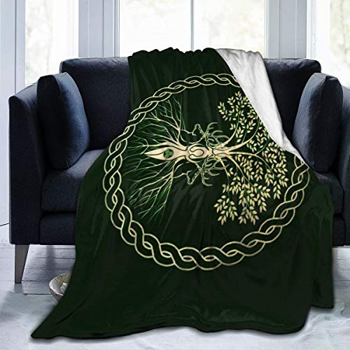Yangzhi Celtic Ritual Norse Nordic Viking Goddess Wiccan Wicca Full Fleece Throw Cloak Wearable Blanket Flannel Fluffy Comforter Quilt Nursery Bedroom Bedding Decor Queen King Size Plush Soft Cozy