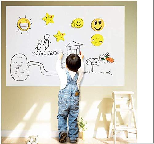 Ymran Whiteboard, afneembaar, met stift, whiteboard, muurstickers, krijtbord, bord, voor kinderkamer, muurkunst, 45 x 100 cm