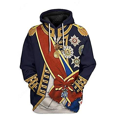 3D Gedruckt Pullover Hoodie Jacke Mantel für einflussreiche Historische Figuren Präsident Leader Cosplay Kostüm Gr. XX-Large, Horatio Nelson