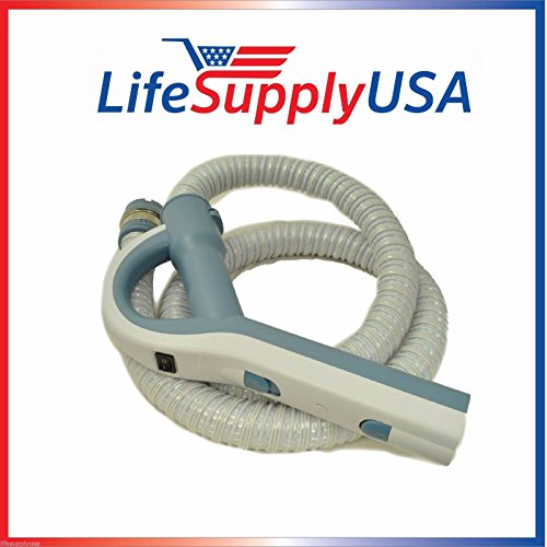 LifeSupplyUSA Electric Vacuum Hose with Pistol Grip Handle Compatible with Aerus Electrolux Lux Legacy Epic 5000, 6000, 6500# 26-1129-22 in Blue/White