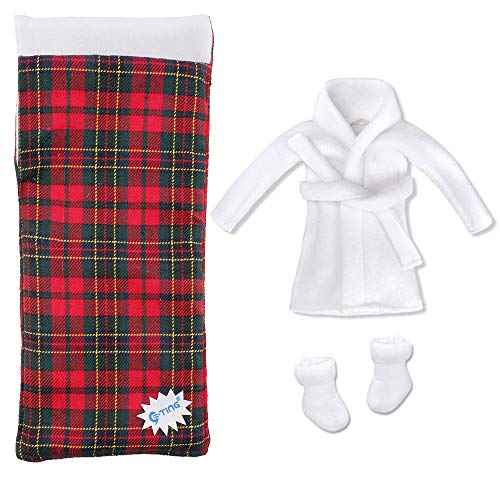 E-TING Sleeping Bag Christmas Accessory for Elf Doll (Doll is not Included) (Sleeping Bag + Bathrobe)
