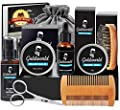 GoldWorld Beard Grooming Kit w/Beard Baubles,Beard Shampoo/Wash,Beard Oil,Beard Balm,Beard Comb,Beard Brush,Shaper,Scissors,Christmas Keychain,Storage Bag,E-book,Beard Growth Care Gifts Set for Men from GoldWorld