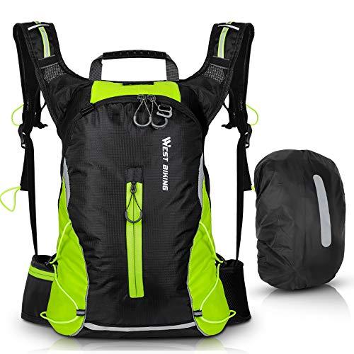 ICOCOPRO Zaino da bicicletta, leggero, impermeabile, con protezione antipioggia, per corsa, escursionismo, ciclismo, arrampicata, campeggio, ciclismo