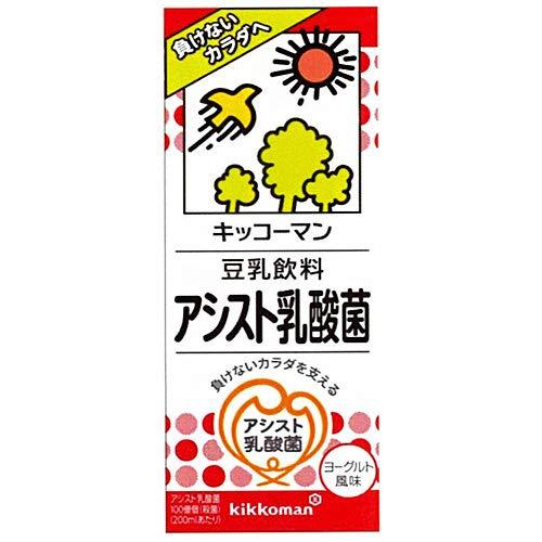 キッコーマン 豆乳飲料 アシスト乳酸菌 200ml紙パック×18本入×(2ケース)