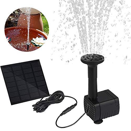 CPPK fontein op zonne-energie, vijverpomp met 1,2 W monokristallijne zonne-waterpomp eenvoudige installatie, zonne-energie, drijvende ffonteinpomp voor tuinvijver of fontein, visreservoir