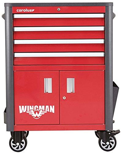 CAROLUS 2054.10 Werkstattwagen Wingman, 4 Schubladen, rot/anthrazit