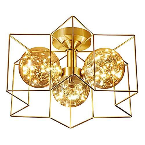 WASDY Lámpara de araña LED, lámpara de araña de Gypsophila, lámpara de Dormitorio nórdica, Moderna, Minimalista, Creativa, para Sala de Estar (3 Colores)