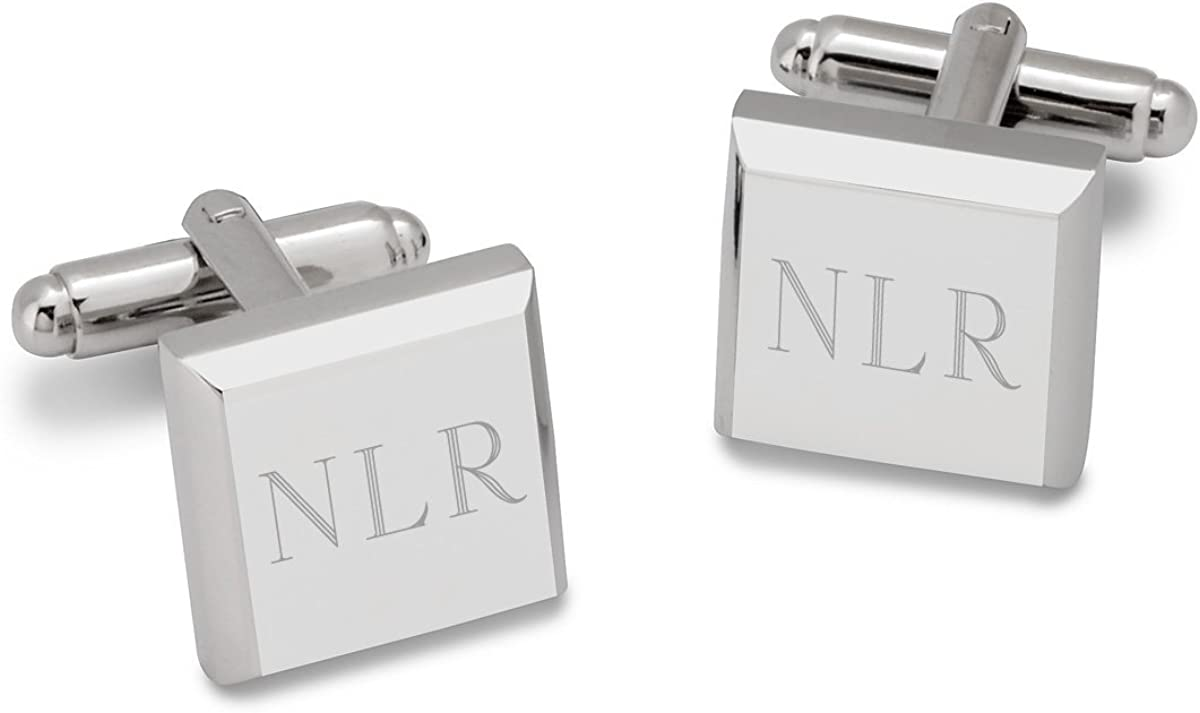 Personalized Cufflinks with Initials - Monogrammed Tuxedo Cufflinks Set for Husband, Wedding Groom, Doctor, Lawyer