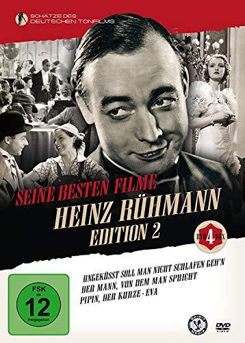 HEINZ RÜHMANN EDITION 2 – Eva / Ungeküsst soll man nicht schlafen geh'n / Der Mann, von dem man spricht / Pipin, der Kurze [4 DVD-Box]