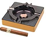Best Cigar Ashtrays - OILP Cigar Ashtray Metal Outdoor Cigar Cigarette Ashtray Review