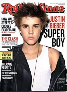Rolling Stone March 3 2011 Justin Bieber on Cover, The Clash, Beavis and Butt-Head Back, The Cars Reunited, The Decemberists, Gary Moore/Thin Lizzy, Conor Oberst/Bright Eyes