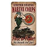 Thomas655 Marines USMC Pin Up Chica Armadas Hombre Cueva Decoración Garaje Decoración Pared Arte...
