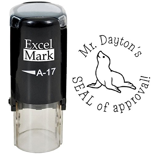 Seal of Approval - ExcelMark Custom Round Self-Inking Teacher Stamp