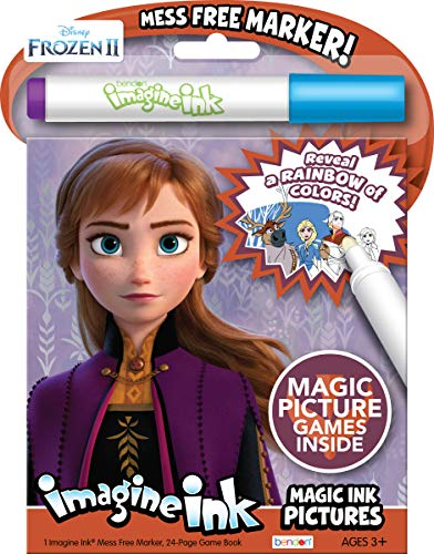 Disney Frozen 2 Imagine Ink Magic Ink 24-Page Activity Book and Mess-Free Marker 45811