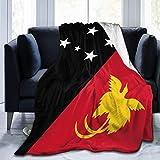 ujmki Überwurfdecke, gemütliche Fleece-Decke, warm, super weich, bequem, Geschenk für Kinder & Erwachsene, 152 cm x 127 cm, Flagge von Papua Neuguinea